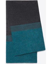 Vince Needle Punch Colorblock Scarf - Black