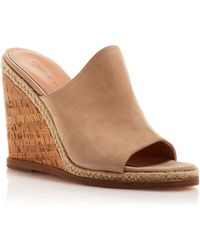 Sigerson Morrison Open Toe Platform Slide Wedge Sandals - Vala - Lyst