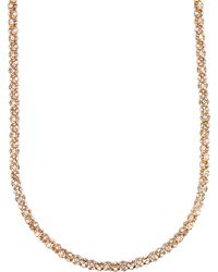 Anne Klein Goldtone Crystallized Tubular Necklace - Lyst