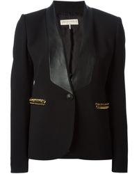 Emilio Pucci Leather Lapel Blazer - Lyst