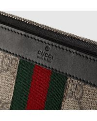 Gucci Bright Supreme Continental Wallet - Natural