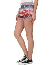 Converse Pattern Track Short red - Lyst