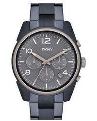 DKNY 'crosby' Chronograph Bracelet Watch - Blue