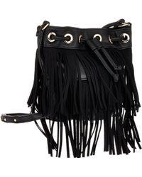 Deux Lux Fringe Micro Bucket Bag - Lyst
