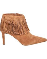 Sam Edelman | Kandice Fringed Saddle-Suede Boots | Lyst