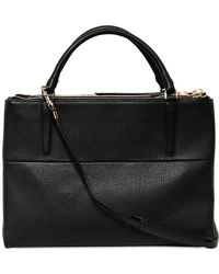COACH - Borough Grained Leather Top Handle Bag - Lyst