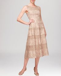 Kay Unger Dress - Sleeveless Illusion Lace - Lyst