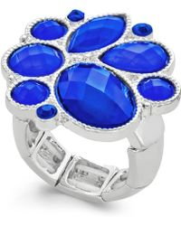 Style & Co. - Silver-tone Blue Stone Ring - Lyst