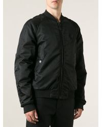 Marcelo Burlon County Of Milan Padded Printed Lining Bomber Jacket - Lyst