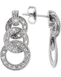 Charriol - Women's Cignature 18k White Gold Diamond Loop Earrings - Lyst