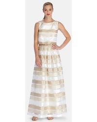 Tahari Women'S Stripe Shantung Popover Gown - Lyst