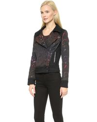 Marchesa Voyage | Moto Jacket  Blackrainbow | Lyst