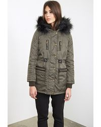 Forever 21 Faux Fur Trim Parka You've Been Added To The Waitlist - Green