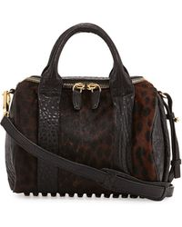Alexander Wang Rockie Small Spotted Calf Hair Crossbody Satchel - Lyst