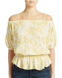 Free People Shades Of Cool Blouse - Lyst