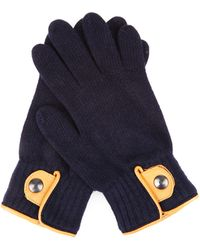 Oliver Spencer - Donegal Leather-trim Wool Gloves - Lyst