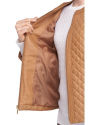 Brooks Brothers Quilted Leather Jacket - Lyst