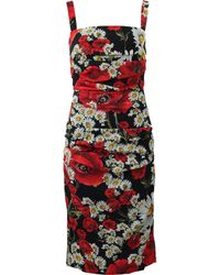 Dolce & Gabbana | Rouched Poppy Dress | Lyst