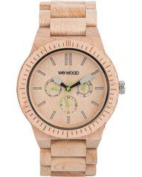WeWood - Kappa Maple Wood Chrono Watch - Lyst