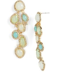 Lauren by Ralph Lauren - Stone Cluster Linear Earrings - Lyst