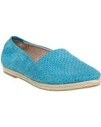 Steve Madden Sweet Perforated Leather Flats - Lyst