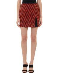 Emanuel Ungaro Dripping Chevronprint Mini Skirt - Lyst
