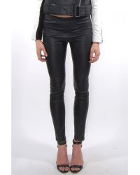 Helmut Lang Cropped Stretch Leather Legging - Lyst