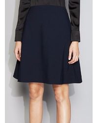 Acne Studios Piana Skirt Navy blue - Lyst