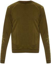 Haider Ackermann Perth Thorn-embroidered Cotton Sweatshirt - Metallic