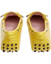 Tod's Yellow Heaven Laccetto Leather Driving Moccasins