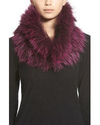 Badgley Mischka - Genuine Fox Fur Infinity Scarf - Lyst