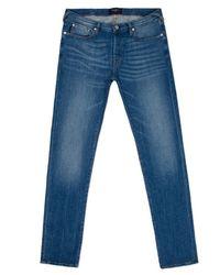 Paul Smith Straight-Fit Light-Wash Stretch Slub Jeans - Lyst