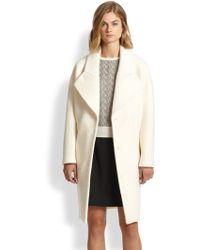 Carven Oversized Wool Boucleacute Coat - Lyst
