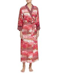 Oscar de la Renta Arabian Sunset Mix-print Long Robe - Lyst