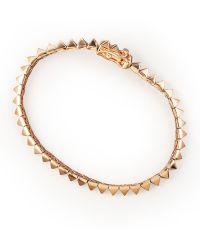 Eddie Borgo - Pavé Small Pyramid Tennis Bracelet - Lyst