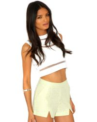 Missguided Emma Tailored Print Shorts - Lyst