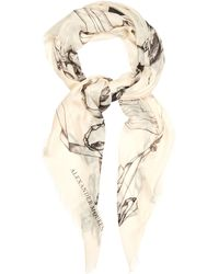Alexander McQueen Bird Print Pashmina - Lyst