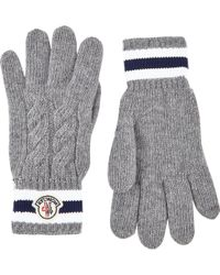 Moncler Cableknit Gloves - Lyst
