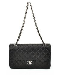 Chanel Authentic Pre-owned Black Lambskin Mini Flap - Lyst