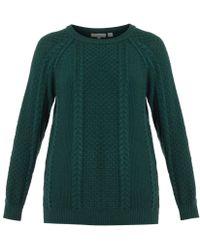 Chinti & Parker Aran-Knit Wool Sweater - Lyst