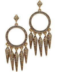 House Of Harlow Vibration Chandelier Earrings - Gold - Lyst