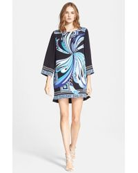Emilio Pucci Butterfly Print Silk Cady Tunic Dress - Lyst