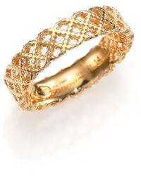 Gucci Diamantissima 18K Yellow Gold Band Ring - Lyst