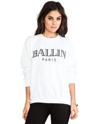 Brian Lichtenberg Ballin Sweatshirt - White
