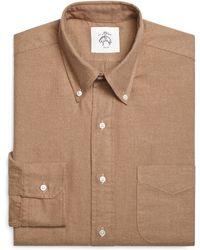 Brooks Brothers Khaki Button-down Shirt - Lyst