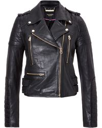 Juicy Couture Leather Moto Jacket - Lyst