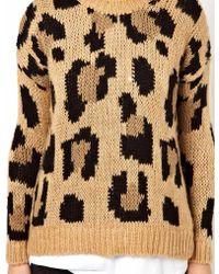 Pull&Bear - Leopard Print Sweater - Lyst
