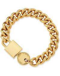 Marc By Marc Jacobs - Lock-in Golden Statement Bracelet - Lyst