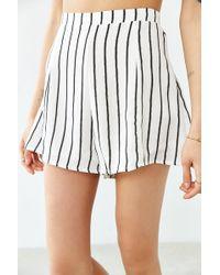 Glamorous Striped Modern Short - Black