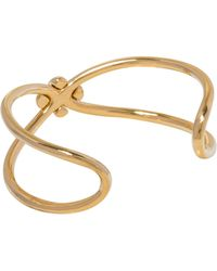 Giles & Brother Skinny X Knot Cuff gold - Lyst